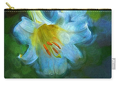 White Lily Obscure Carry-all Pouch