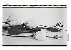 White Lisianthus  Carry-all Pouch
