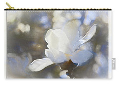 White Magnolia Flower Blossom In The Sunlight Carry-all Pouch