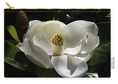 White Magnolia Flower Carry-all Pouch