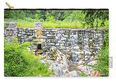 Carry-all Pouch featuring the photograph White Marble Mill Dam by Betty Denise