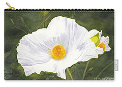 White Matilija Poppy  Carry-all Pouch