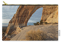 Carry-all Pouch featuring the photograph White Mesa Arch by Dustin LeFevre