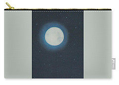 White Moon At Night Carry-all Pouch