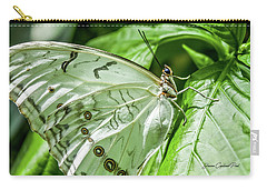 Carry-all Pouch featuring the photograph White Morpho Butterfly by Joann Copeland-Paul
