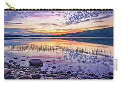 Carry-all Pouch featuring the photograph White Night Sunset On A Swedish Lake by Dmytro Korol