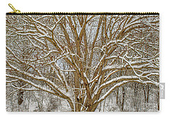 White Oak In Snow Carry-all Pouch