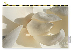 White-on-white Magnoia Carry-all Pouch