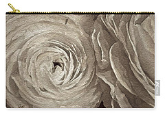 Carry-all Pouch featuring the painting White On White Rose by Joan Reese