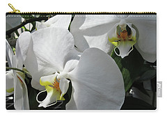 White Orchid Bloom Duo Carry-all Pouch by Tony Grider