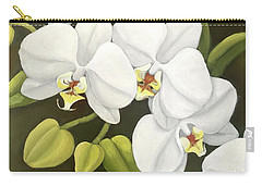 White Orchid Carry-all Pouch by Inese Poga