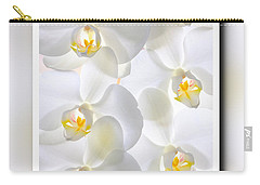 White Orchids Framed Carry-all Pouch