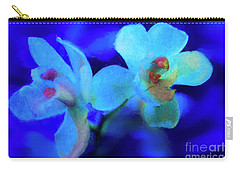 Carry-all Pouch featuring the digital art White Painted Orchids by Darleen Stry