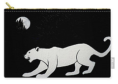 White Panther Carry-all Pouch
