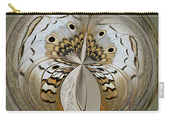 White Peacock Butterfly Orb Carry-all Pouch