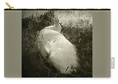Carry-all Pouch featuring the photograph White Peacock Lounging In The Shade by Katie Wing Vigil