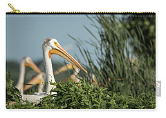 Carry-all Pouch featuring the photograph White Pelican 7-2015 by Thomas Young