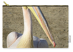 Carry-all Pouch featuring the photograph White Pelican by Sally Weigand