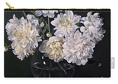 White Peonies Are Ready To Explode Carry-all Pouch