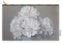 Gray Day For White Peonies Carry-all Pouch