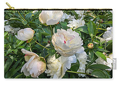 White Peonies In North Carolina Carry-all Pouch