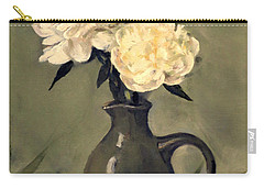 White Peonies In Small Green Pitcher Carry-all Pouch