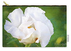 White Peony After The Rain Carry-all Pouch