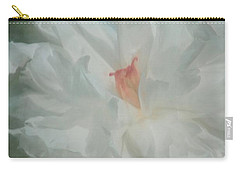 Carry-all Pouch featuring the photograph White Peony by Benanne Stiens