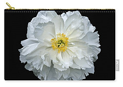 White Peony Carry-all Pouch by Charles Harden