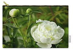Carry-all Pouch featuring the photograph White Peony by Cristina Stefan