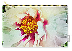 White Peony Carry-all Pouch by Joan Reese
