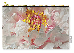Carry-all Pouch featuring the photograph White Peony by Sandy Keeton