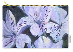 White Peruvian Lily Carry-all Pouch