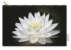 White Petals Glow - Water Lily Carry-all Pouch