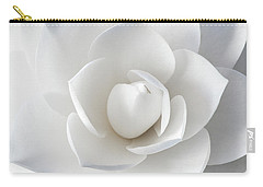 White Petals Carry-all Pouch