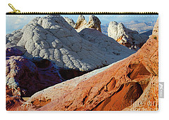 Carry-all Pouch featuring the photograph White Pocket 34 by Bob Christopher