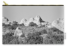 Carry-all Pouch featuring the photograph White Pocket In Black And White by Anne Rodkin