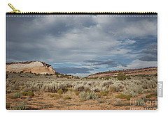 Carry-all Pouch featuring the photograph White Pocket Meets Vermillion Cliffs by Anne Rodkin