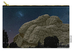 Carry-all Pouch featuring the photograph White Pocket Night Sky by Anne Rodkin