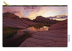 White Pocket Sunset Carry-all Pouch by Jonathan Davison