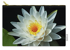 White Pond Lily Carry-all Pouch by Arthur Dodd