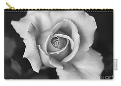 White Rose Against Black Carry-all Pouch