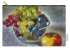 White, Rose And Red Grapes Carry-all Pouch