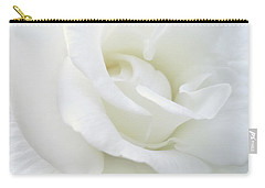 White Rose Angel Wings Carry-all Pouch by Jennie Marie Schell