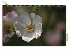 White Rose In Shadow Carry-all Pouch