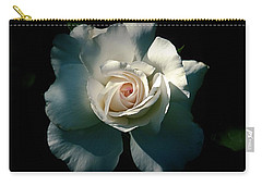 White Rose In The Shadows Carry-all Pouch