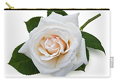 White Rose Carry-all Pouch by Jane McIlroy