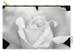 Carry-all Pouch featuring the photograph White Rose Purity by Jennie Marie Schell