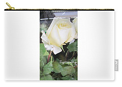 White Rose - Sympathy Card Carry-all Pouch