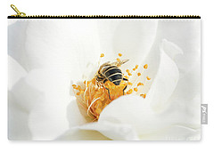 Looking For Gold In A White Rose Carry-all Pouch